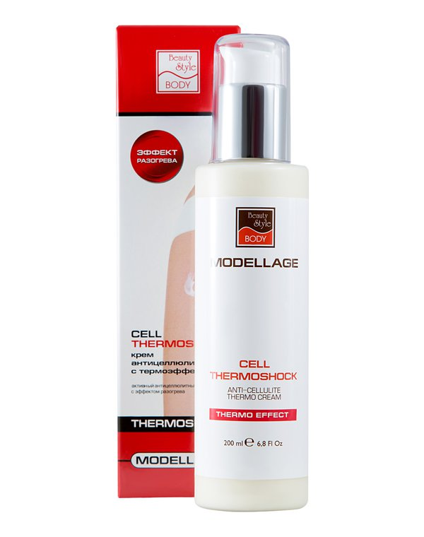 "Антицеллюлитный крем ""Cell Thermoshock"" Modellage Beauty Style, 200 мл 2"